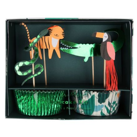 Meri Meri Go Wild Jungle Cupcake Kit